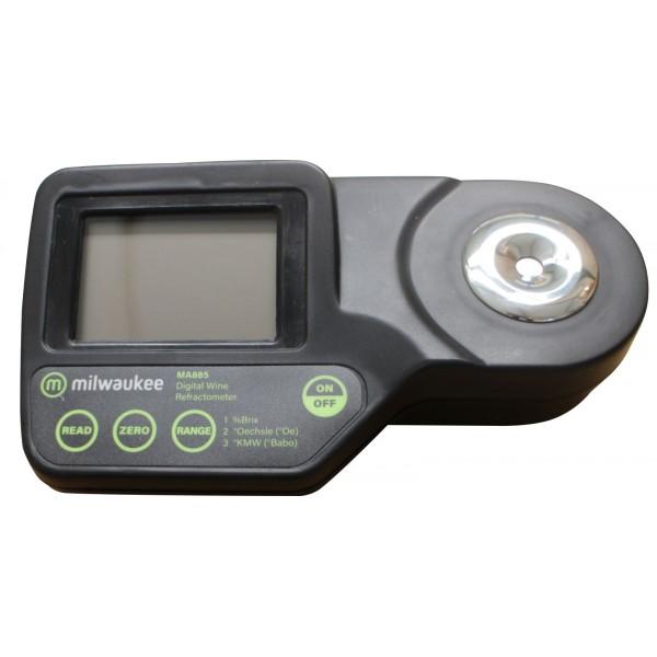 Refraktometer Digital+Koffer MILWAUKEE MA885 0 - 230° Oe / 0 - 50 % Brix