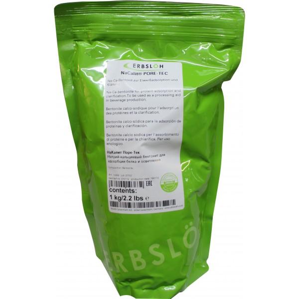 NaCalit® PORE-TEC Bentonit, Packung 1 kg - BevTech GmbH